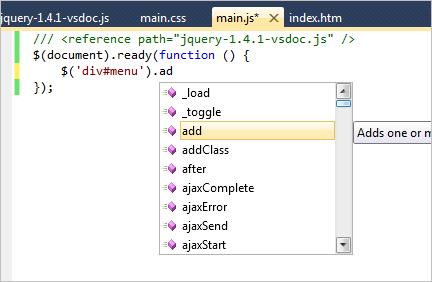 How to setup JQuery intellisense in Microsoft Visual Web Developer